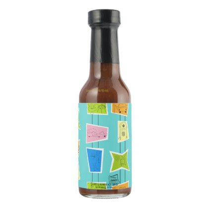 422x422 retro atomic kitsch hot sauce bottle just pink hot