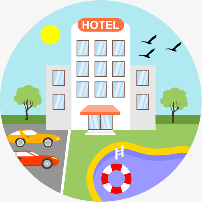 650x651 hotel hotel cartoon hand drawing, hotel clipart, cartoon clipart