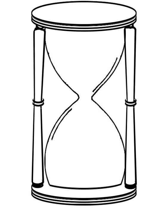 Hourglass Clock Drawing