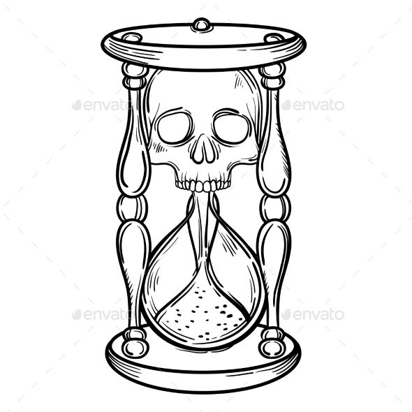 590x590 Hourglass Drawing Free Download