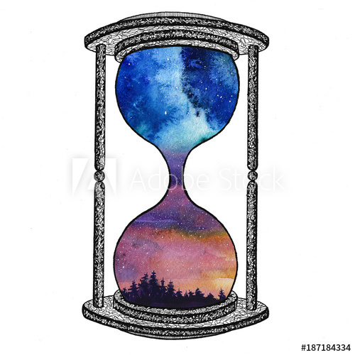 500x500 Hourglass On White Background Future Concept Sand Clock