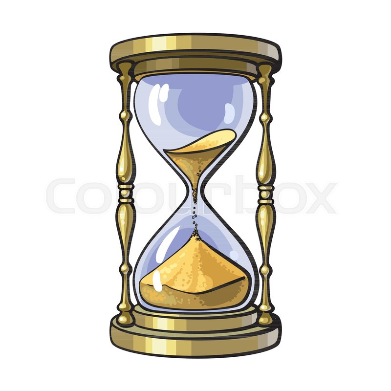 800x800 Old Gold Hourglass Time Concept Stock Vector Colourbox