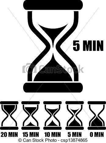 348x470 Vector Sand Glass Timers Set