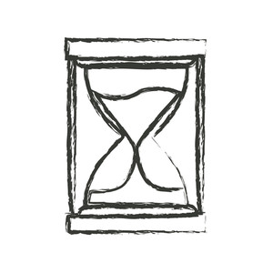 300x300 Monochrome Blurred Silhouette Of Sand Clock Icon Vector