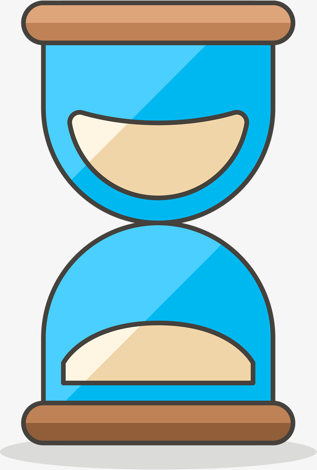 650x962 simple blue hourglass, blue vector, cartoon hand drawing, blue png