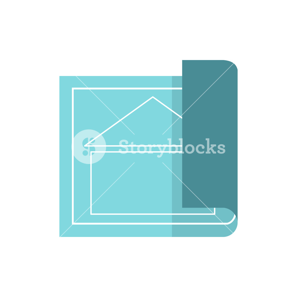 1000x1000 Architectural Design Of House Icon In Flat Style Isolated On White