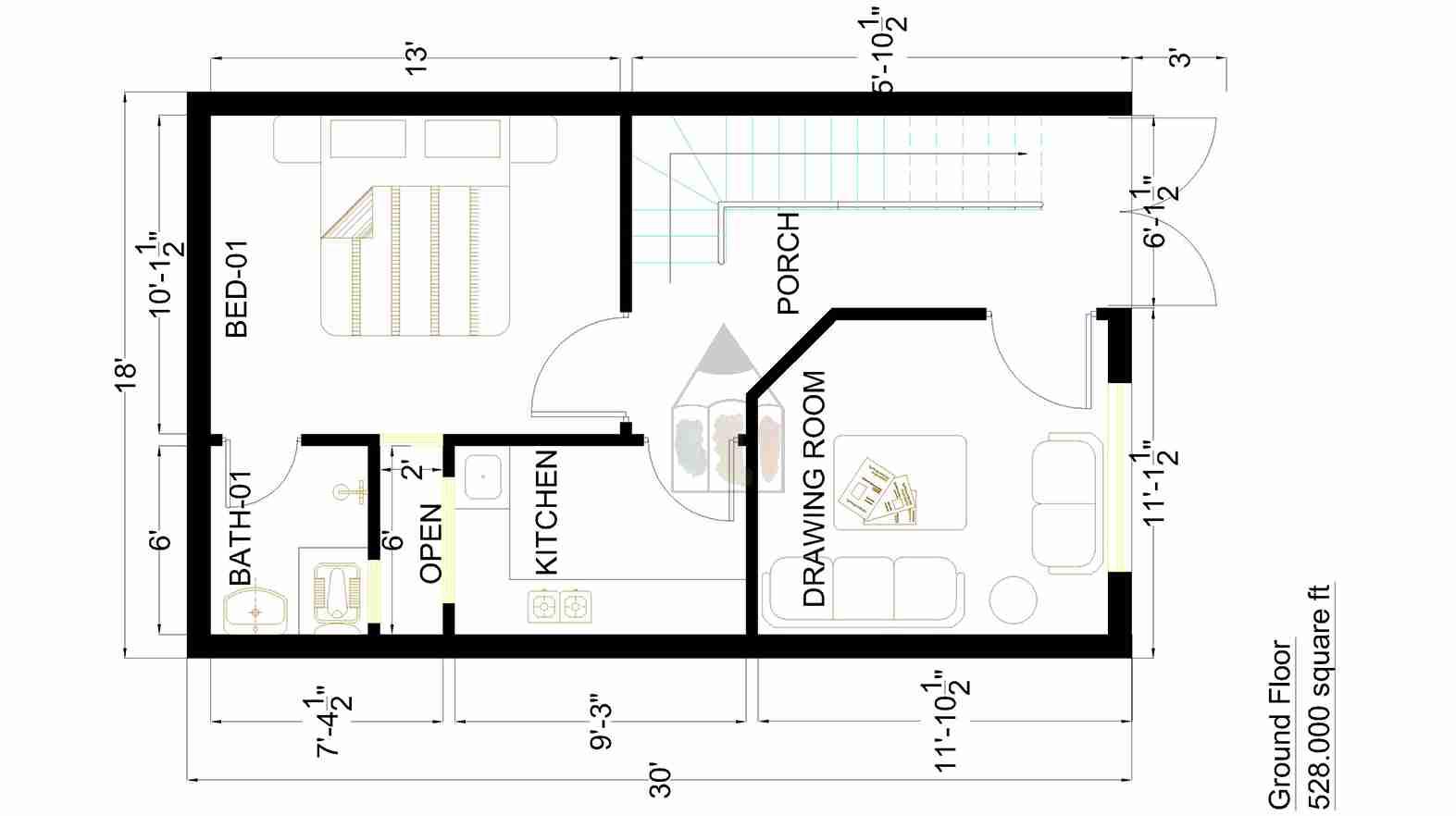 1573x882 Marla House Design Plan Gharplans Pk