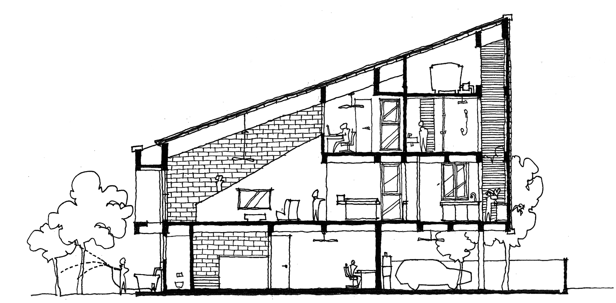 2000x986 Gallery Of House Design Collective Architects