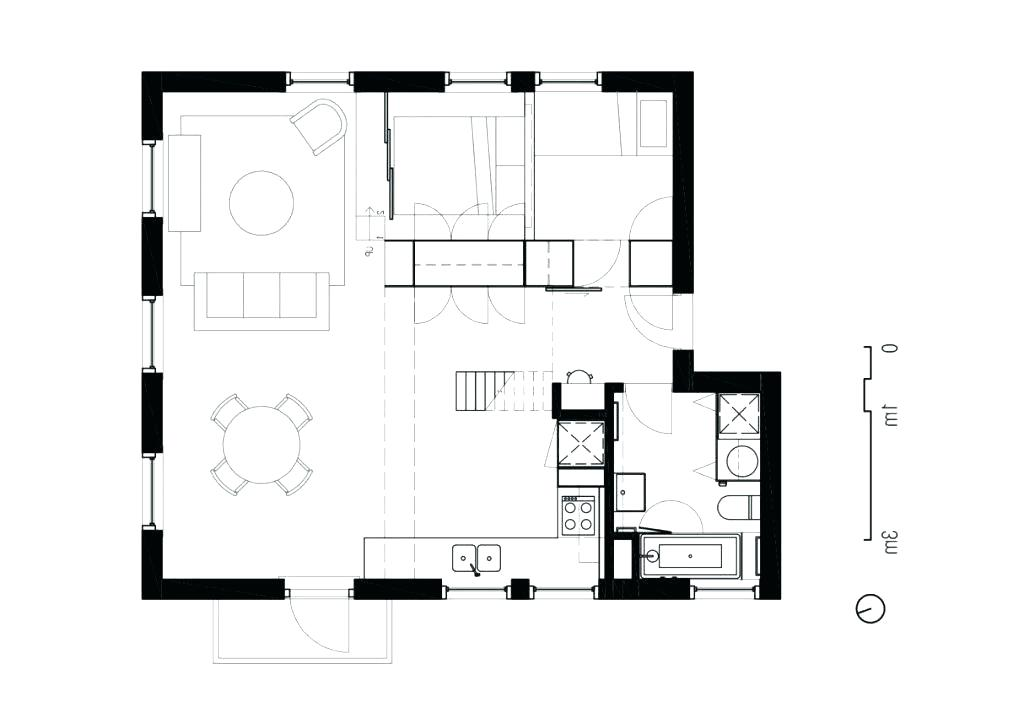 1024x718 Minimalist Floor Plan Minimalist House Design Floor Plan