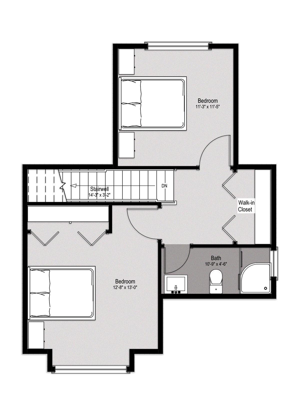 1200x1603 Bedroom House Plan Houzone