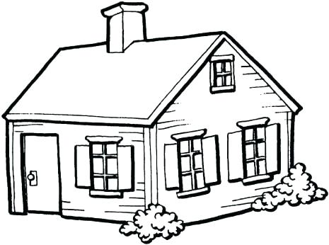 House Drawing Black And White