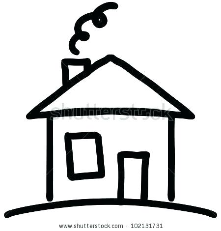 House Drawing Black And White Free Download Best House