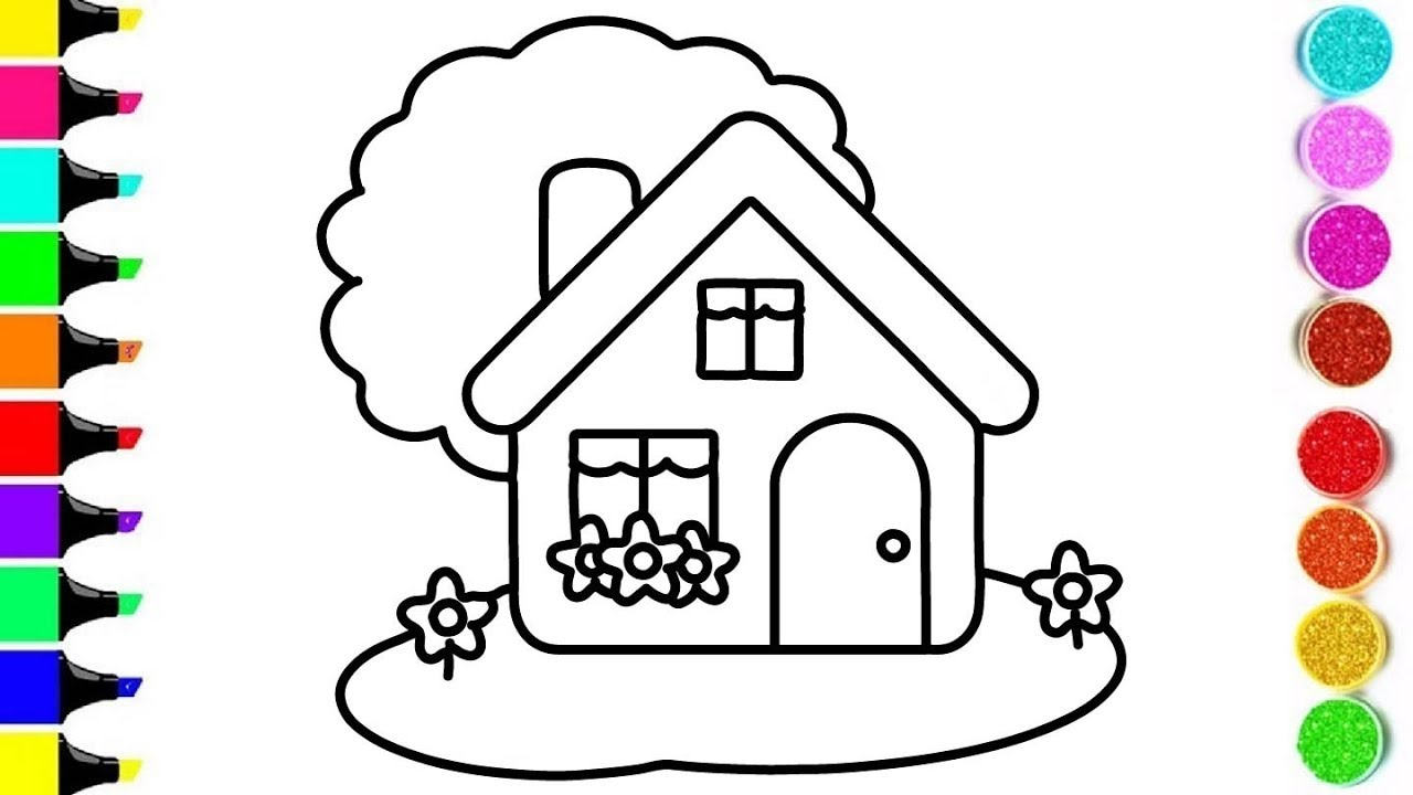 Images Of House Pictures To Color Sabadaphnecottage