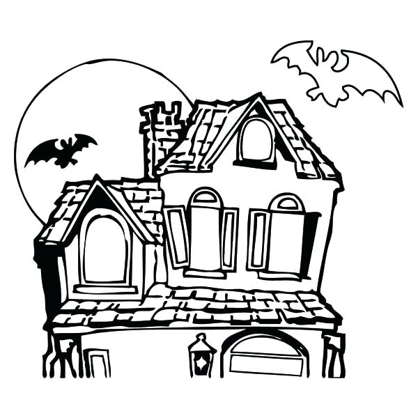 600x600 haunted house coloring color the haunted house coloring