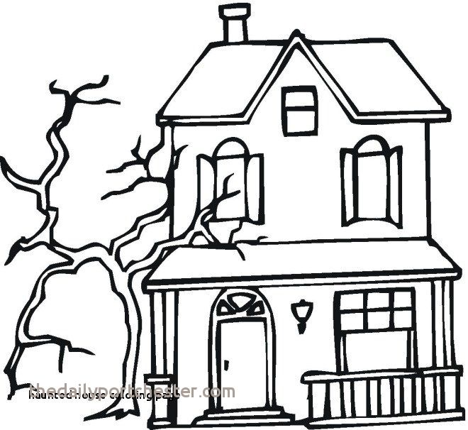 660x606 haunted house coloring pages beautiful haunted house coloring