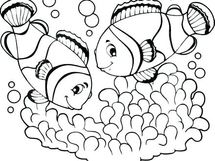 440x330 clown fish coloring pages clown fish template free printable dog