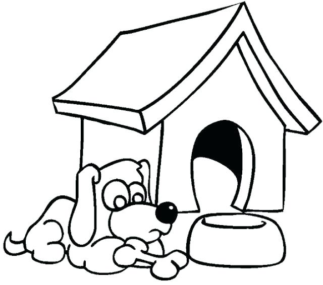 640x566 dog house drawing dog house coloring