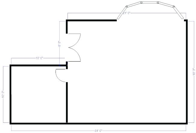 653x443 House Plan Drawing Floor Plan Measurements Draw Walls House Plan
