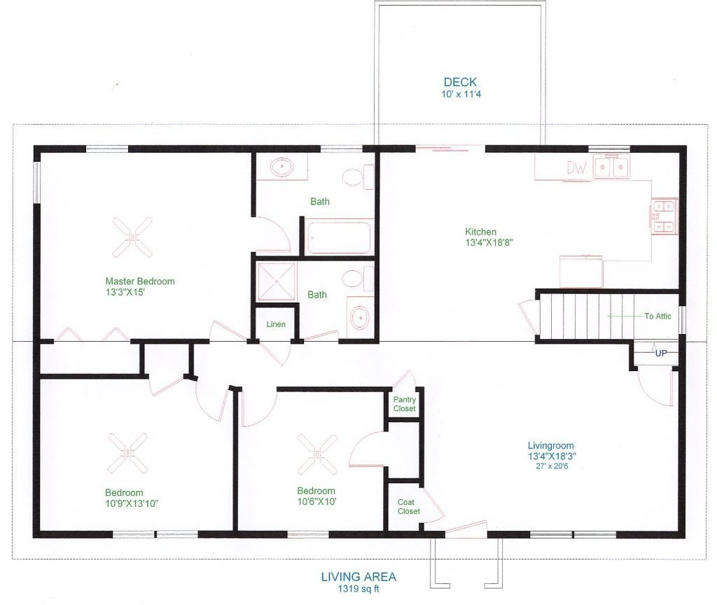 1024x864 floor plan drawer new plan drawing house new ranch house plan draw