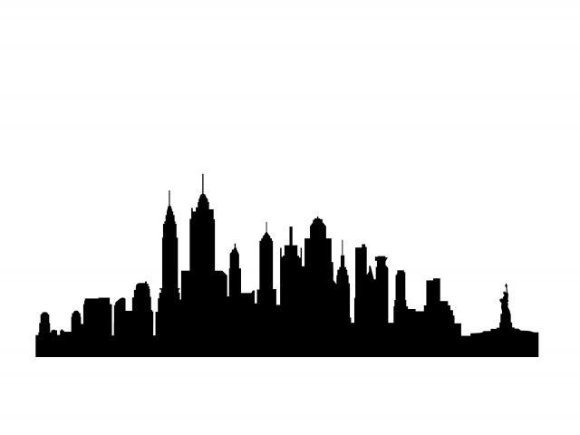 640x480 Drawn Skyline