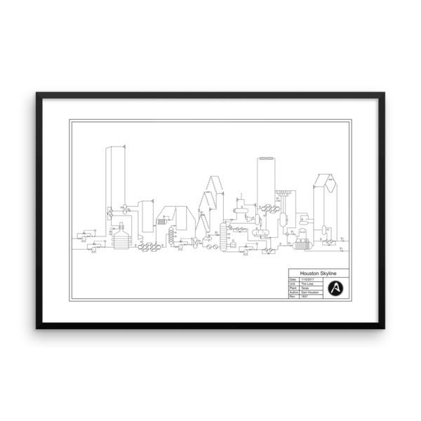 600x600 Houston Skyline Pampid Engineering Art Online Store Powered