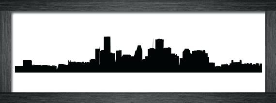 570x214 Houston Skyline Silhouette Vector Free Clip Art Search Drawings