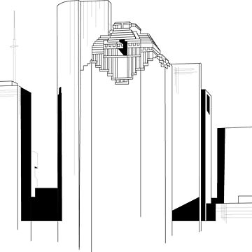 360x360 Houston Skyline Sticker