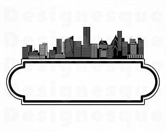 340x270 Houston Skyline Etsy