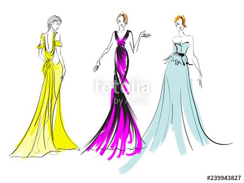 500x376 fashion girls sketch fashion illustration drawing fashion models