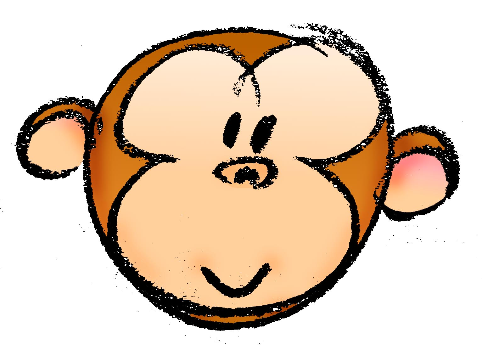 1532x1096 How To Draw A Cartoon Monkey Face Steps