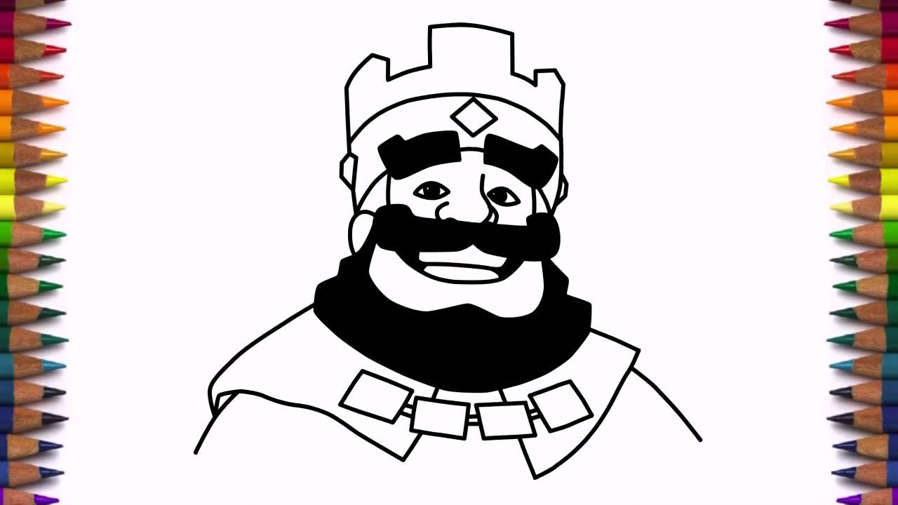 1280x720 How To Draw Clash Royale King Step