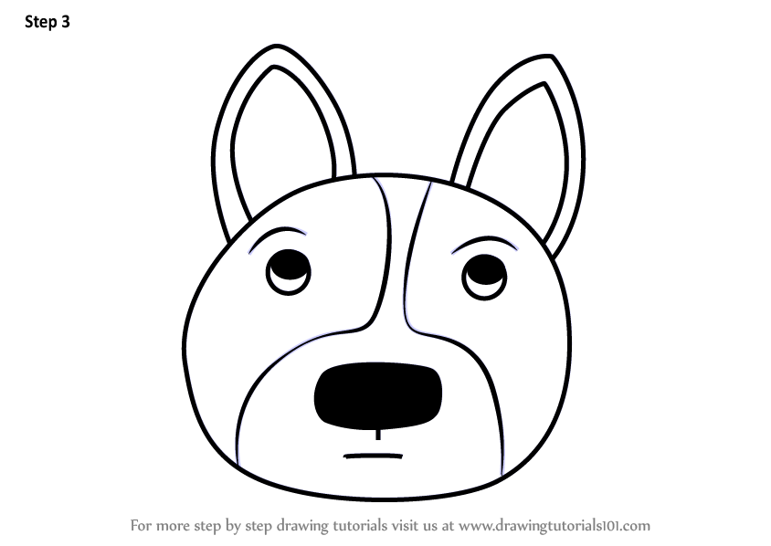 844x598 Learn How To Draw A Welsh Corgi Dog Face For Kids
