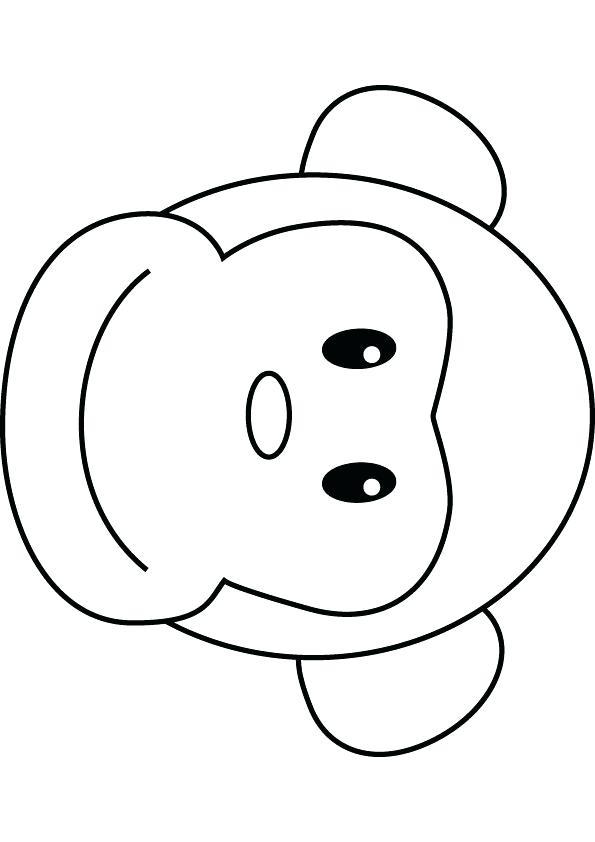 595x842 easy monkey to draw monkey drawing easy drawn monkey howler monkey