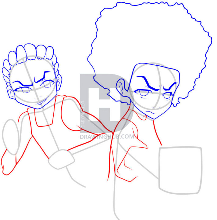 712x720 How To Draw The Boondocks, Step