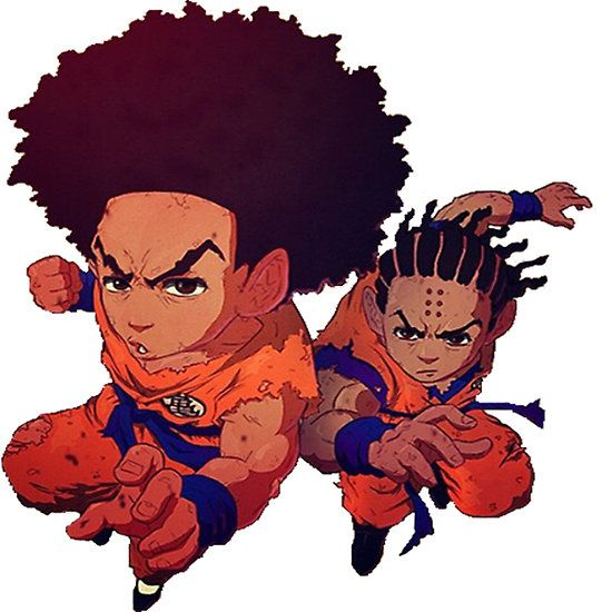 550x550 The Boondocks Dragon Ball Z Huey Freeman Riley Freeman Dbzsuper