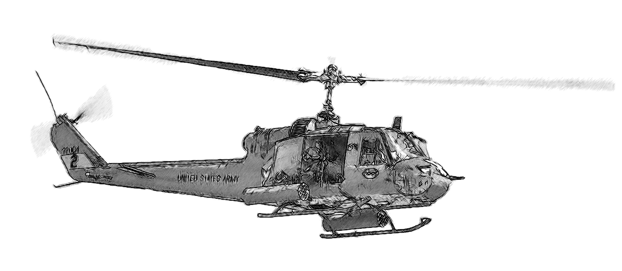 1280x558 Vietnam Drawing Huey Vietnam For Free Download