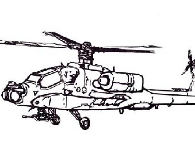 640x480 Drawn Helicopter