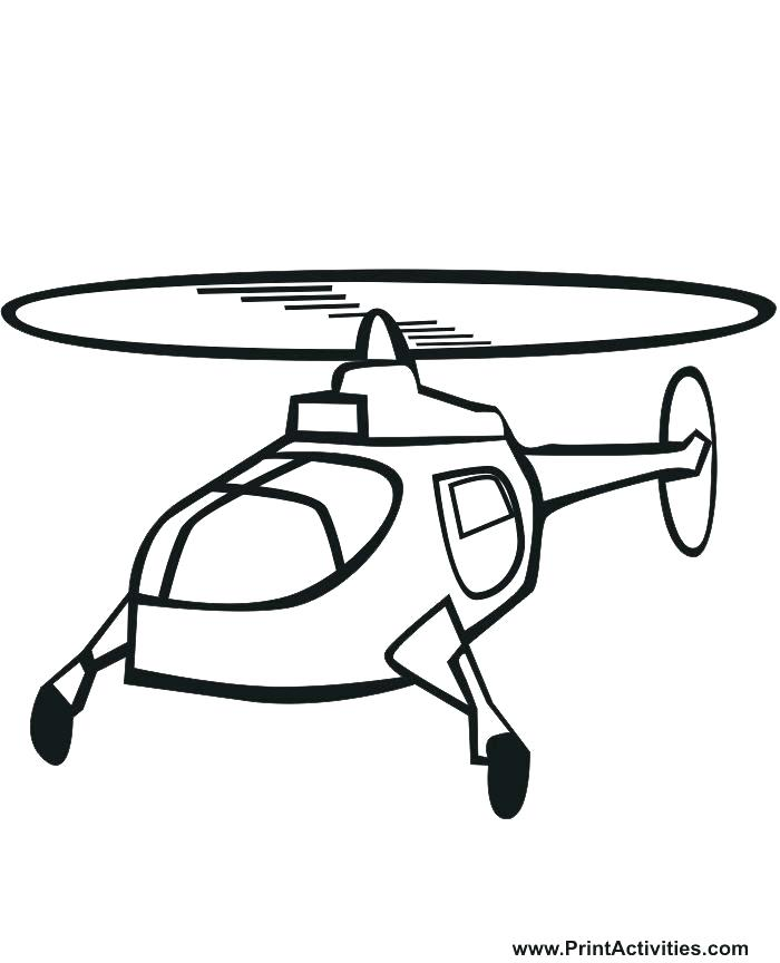 700x864 Helicopter Coloring