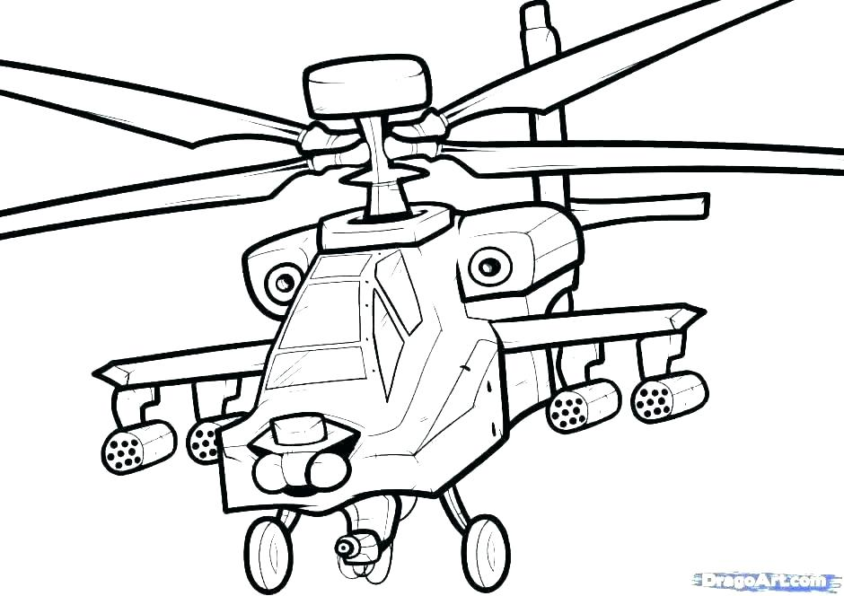 940x664 Helicopter Coloring