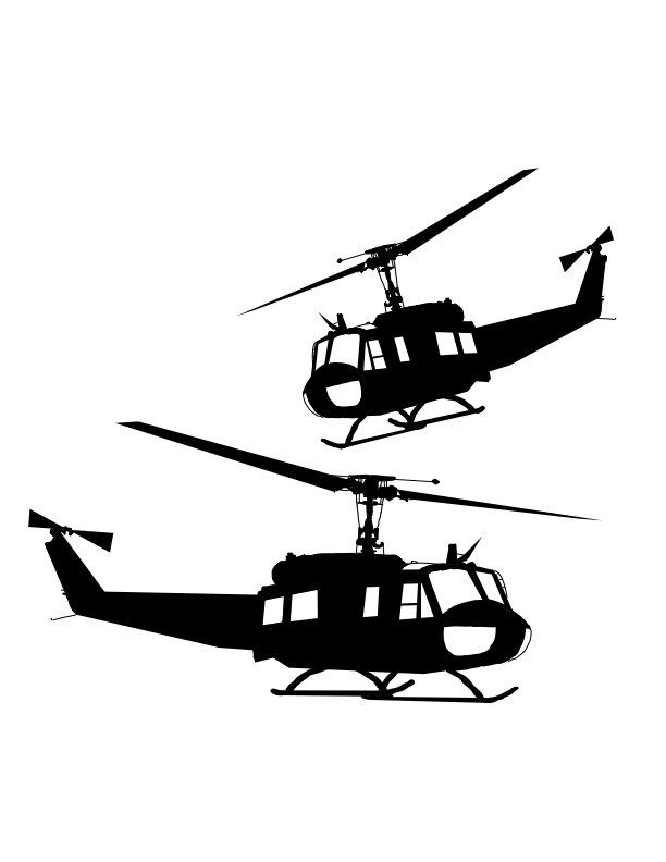 612x792 Huey Helicopter Vector Cricut Maker Metal Art Projects