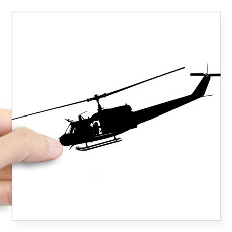 460x460 Huey Helicopter Square Stickers