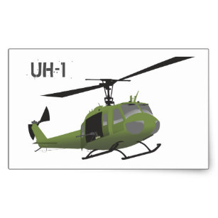 307x307 Huey Helicopter Stickers Zazzle