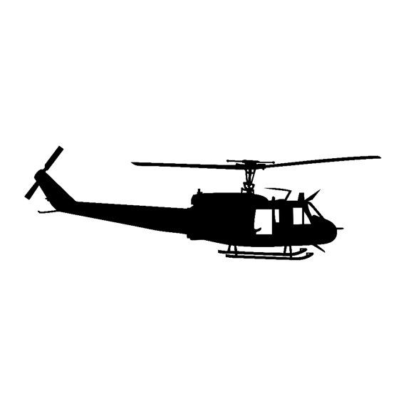 570x570 This Is A Inch Silhouette Of A Huey Uh Helicopter