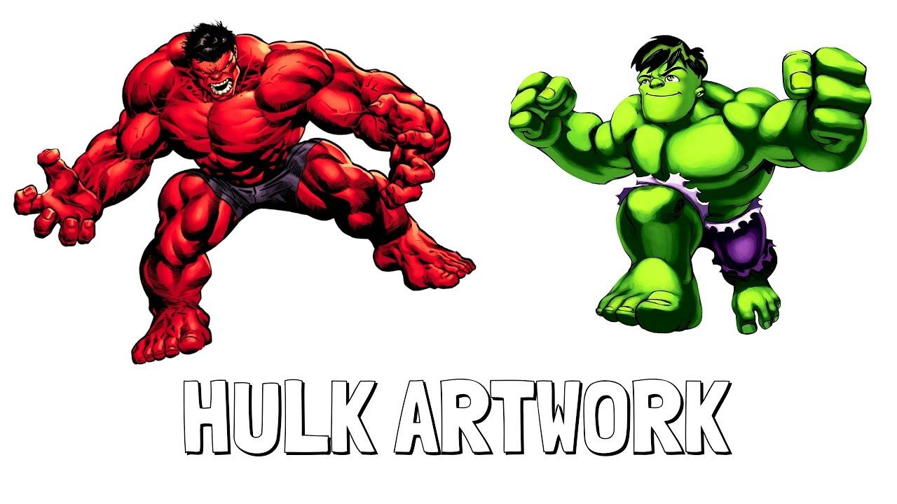 1280x720 red hulk vs hulk drawings