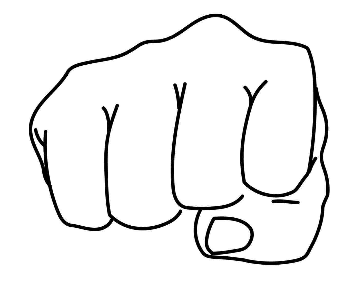1419x1096 rhgetdrawingscom clenched fist drawing easy fist drawing