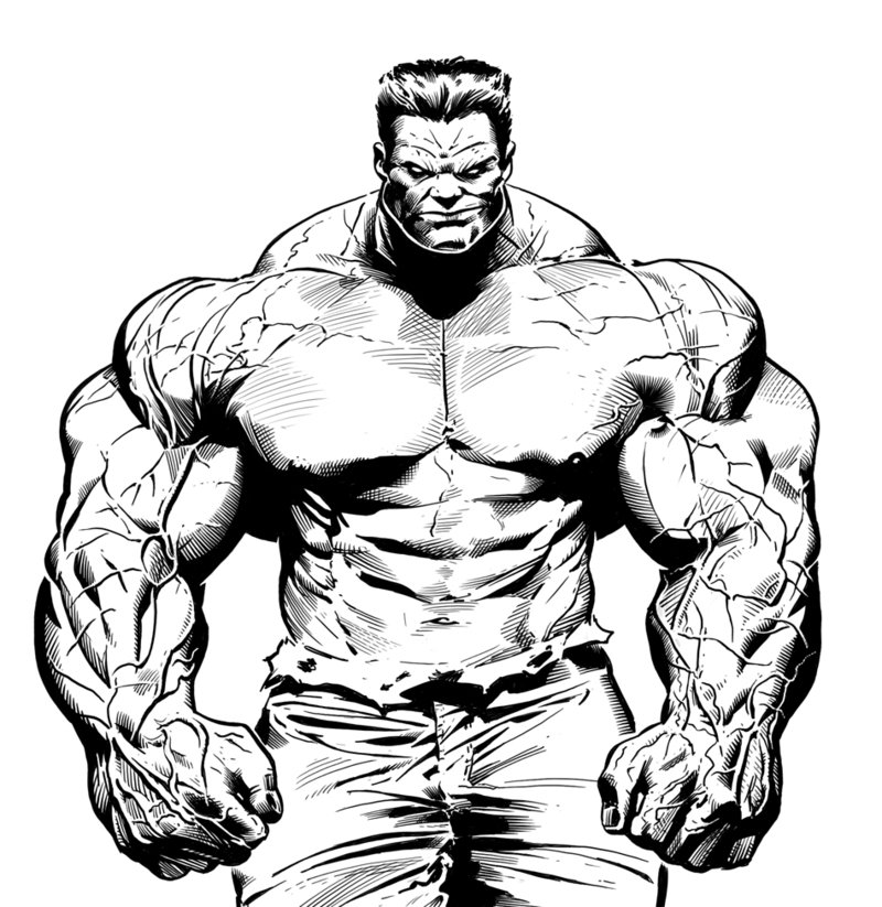800x823 Color Drawing Hulk For Free Download