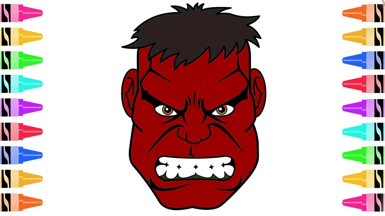 1280x720 How To Draw Red Hulk Coloring Pages Kids Learn Drawing Art