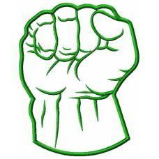 228x228 hulk green fist applique little robbie hulk birthday