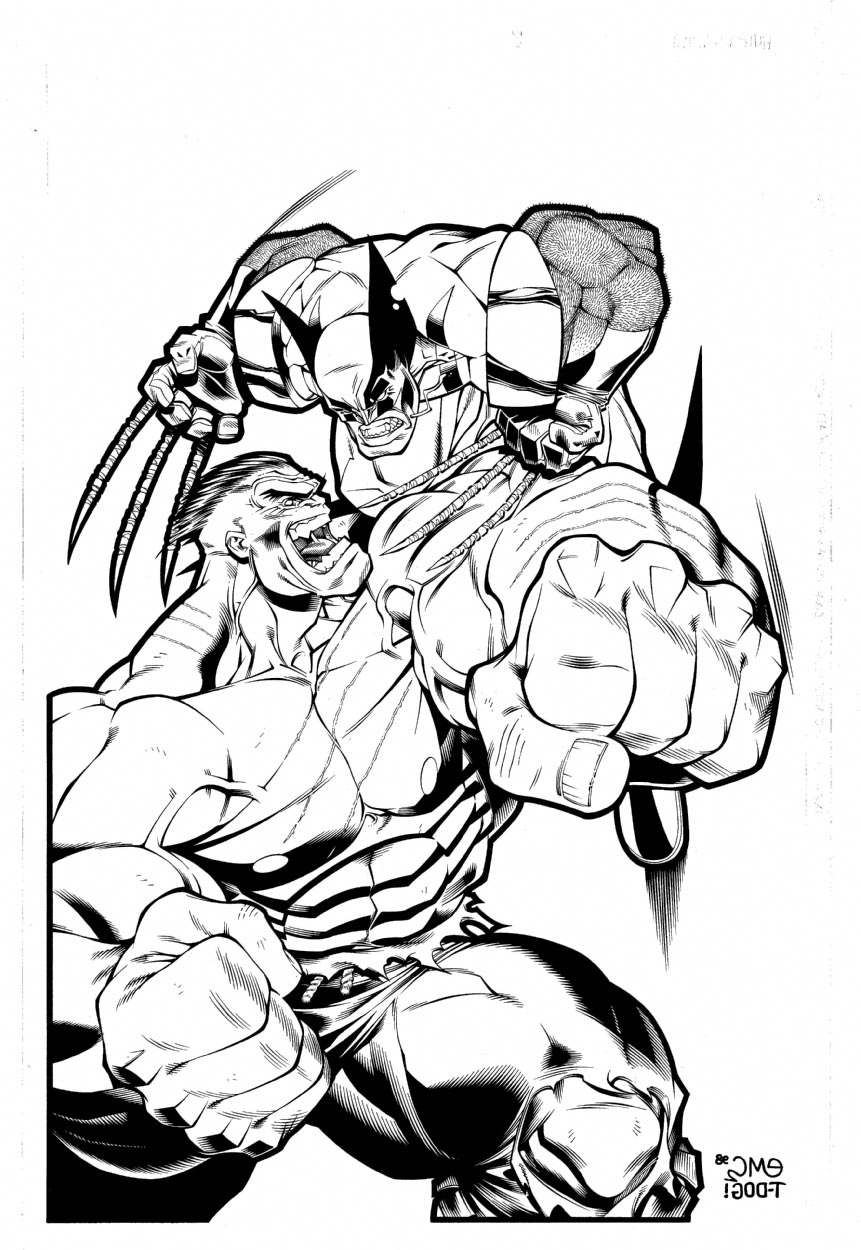 861x1250 Hulk Vs Superman Coloring Pages Wolverine In Linear