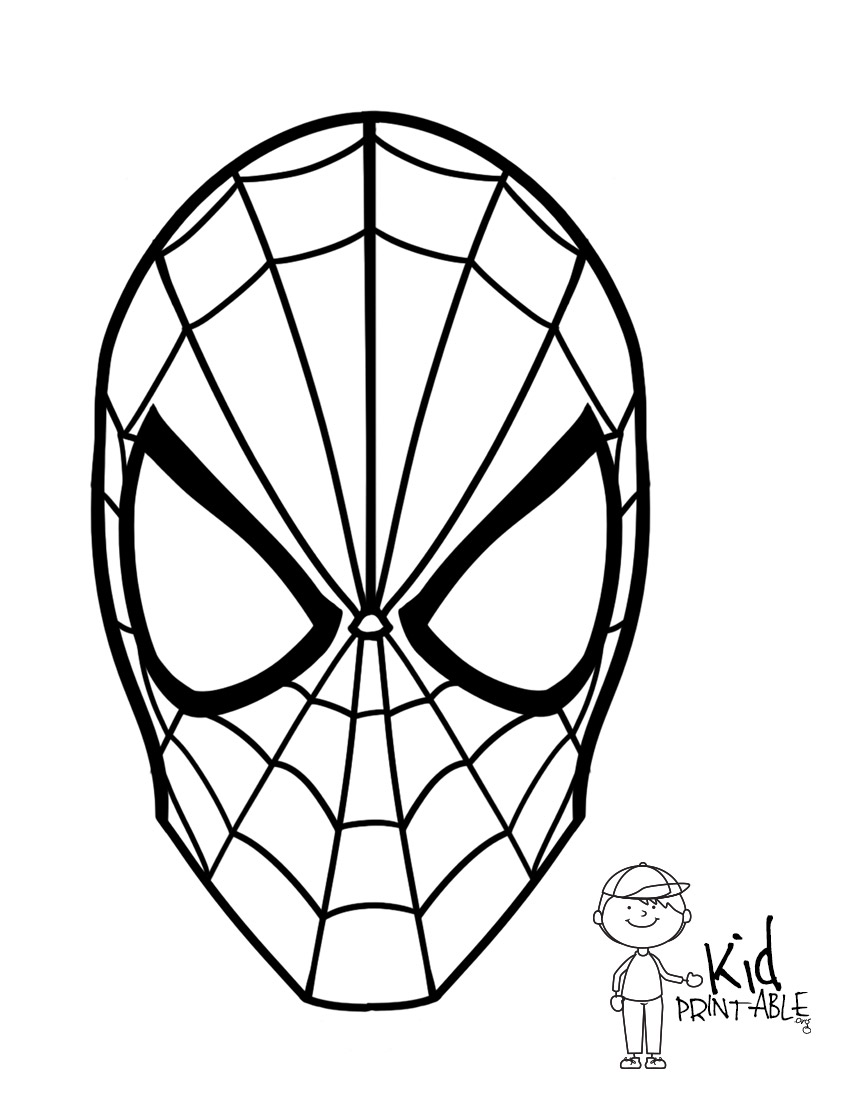 850x1100 Spiderman Coloring Pages Free With Christmas Also Disney Kids